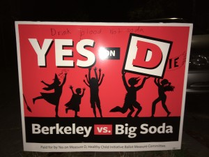 Referendum on tax on soda's in Berkeley